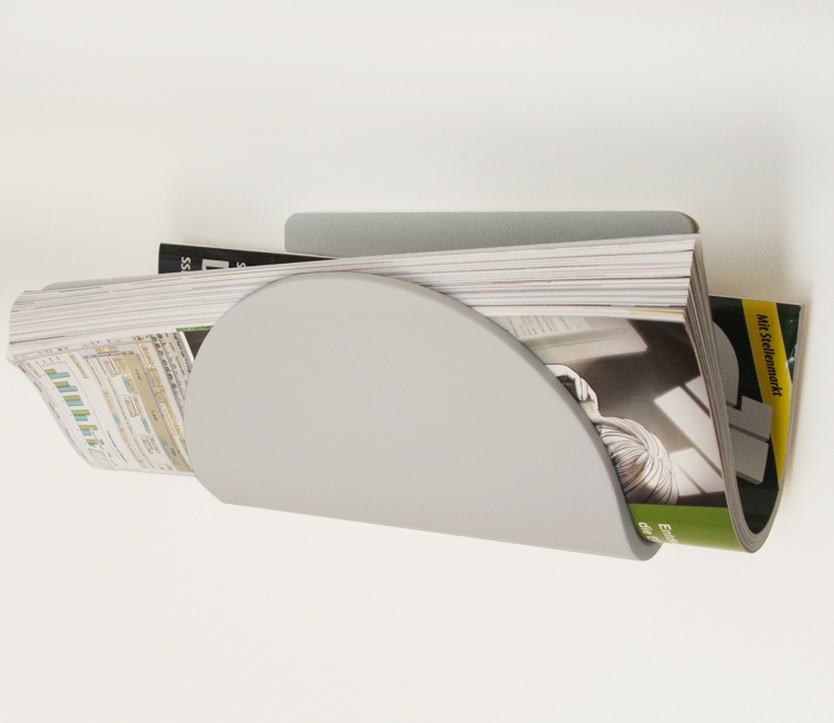 tarayy design zeitungswandhalter grau tarayy designprodukte. Black Bedroom Furniture Sets. Home Design Ideas